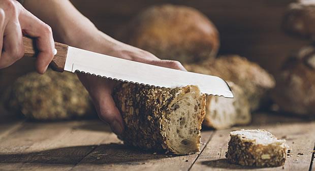 おしゃれなブレッドナイフの写真