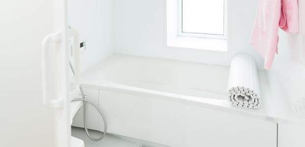 おしゃれな風呂蓋の写真