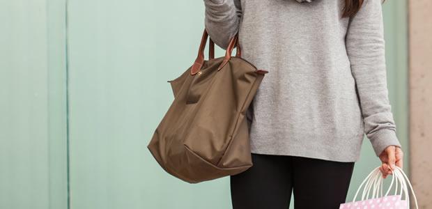 おしゃれなバッグインバッグの写真